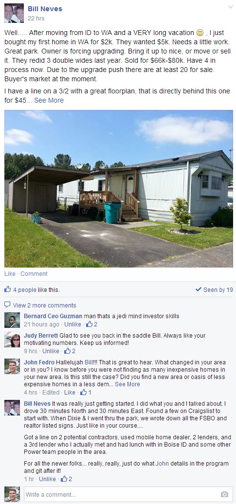 mobile home investor case study