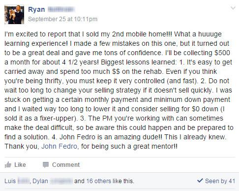 ryan testimonial facebook