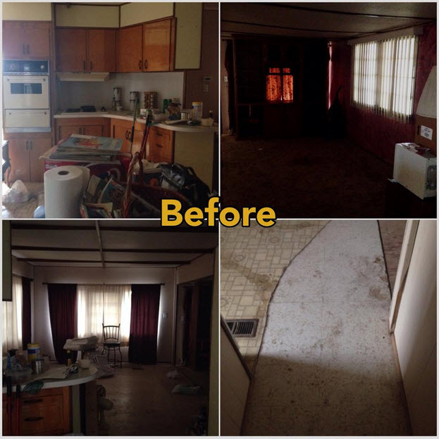 Before Mobile Home Makeover.