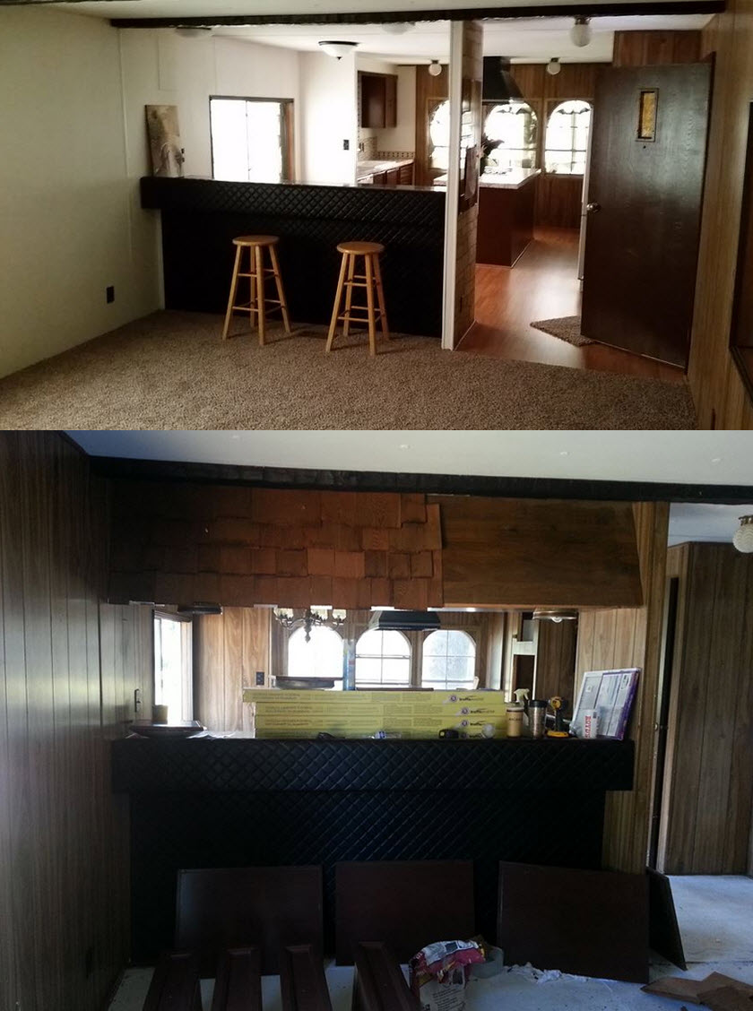 Mobile Home Makeover Before And After Rehab Pictures