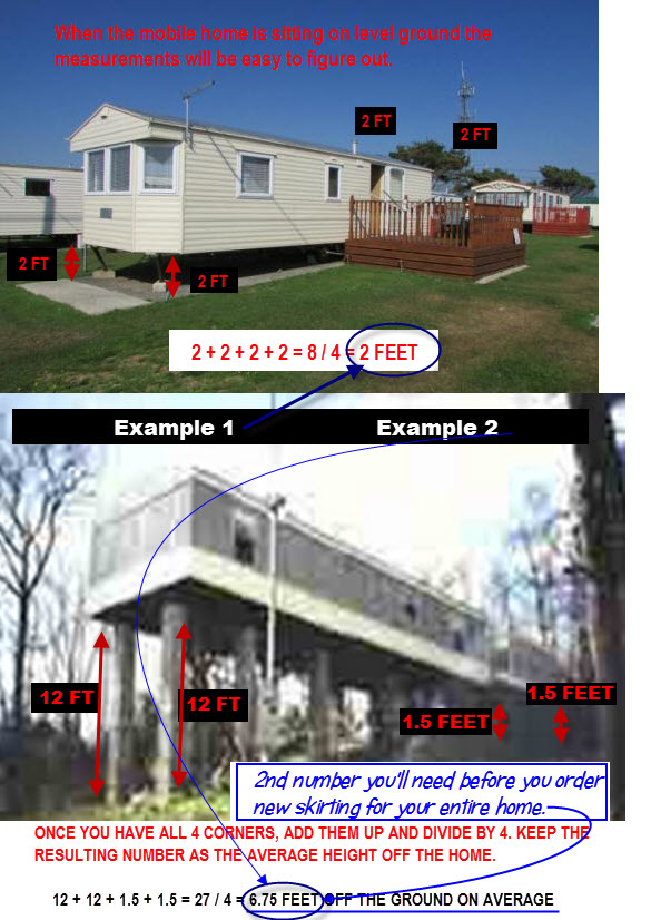 measuring the height of a mobile home mobile home skirting a complete guide to mobile home skirting as Mobile Home Wiring Problems at crackthecode.co