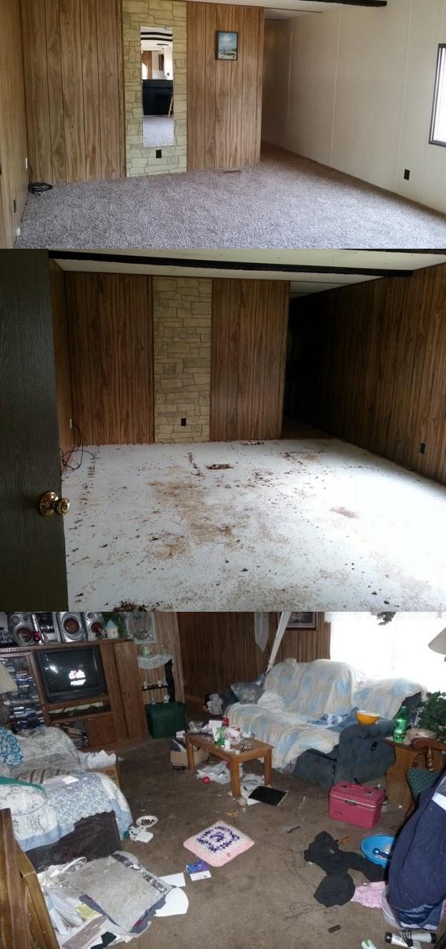 Mobile Home Makeover Living Room