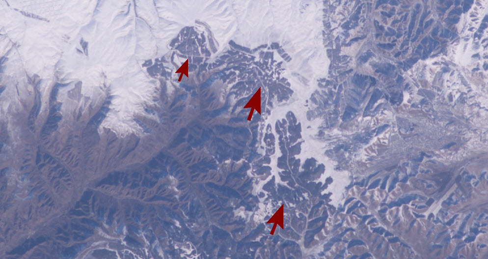 wall of china from space