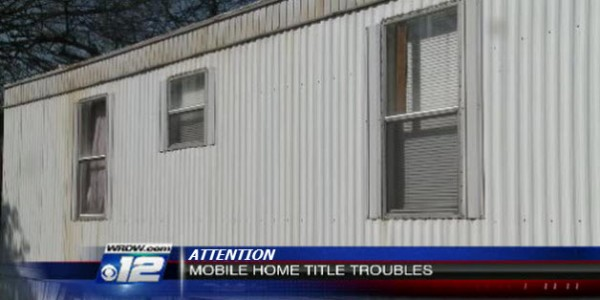 MOBILE HOME TITLE TROPUBLES