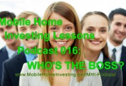 mobile home investing lessons podcast 16