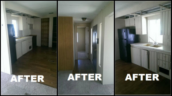 after pictures mobile home repair