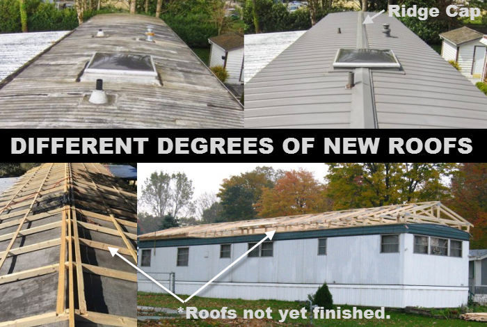 Roof Over: This Is A General Term Used To Describe An Complete New Roof  Installed Over An Existing Mobile Home Roof. These New Roofs Can Mimic The  Same ...