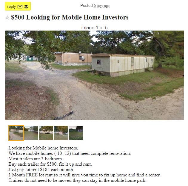Buying multiple mobile homes — Mobile Home Investing